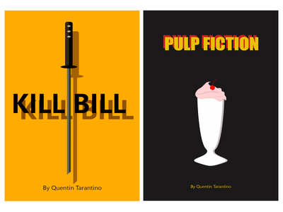 Posters for films by Quentin Tarantino illustration art design vector graphic design poster design illustrator tarantino kill bill poster