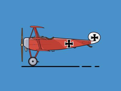 Fokker D VII Red Baron