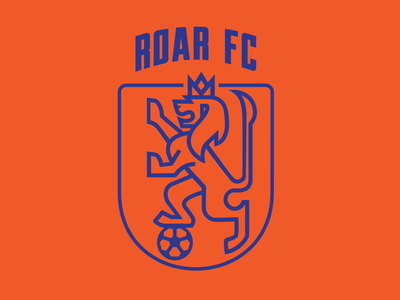 ROAR  FC LOGO netherlands holland vectorart badge lionhead lion logo panther lion esports sports logo hockey football club football
