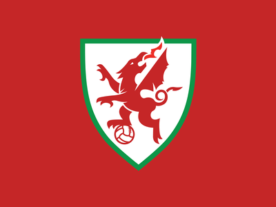 WELSH DRAGON soccer badge soccerlogo soccer football warrior wales vector drawing dragonslogo dragons world dragons dragon welsh
