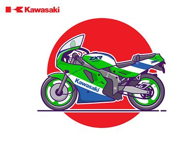 KAWASAKI ZHR 750 design vector sports motorsport motorbike motorcycle