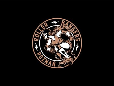 Roller Derby Rangers Poznan rangers hockey logo hockey skates warrior poland sports polska marcinmarszalek vector logo derby roller