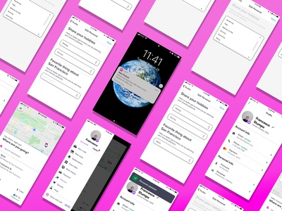 Humanizing the ride sharing experience for Lyft app transportation lyft adobexd ui design uxdesign mobile ui app redesign design