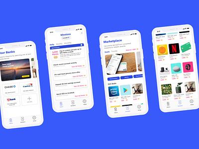 Bancra: Fin Tech Lifestyle Brand figmadesign banking rewards fintech mobile uxdesign uidesign branding