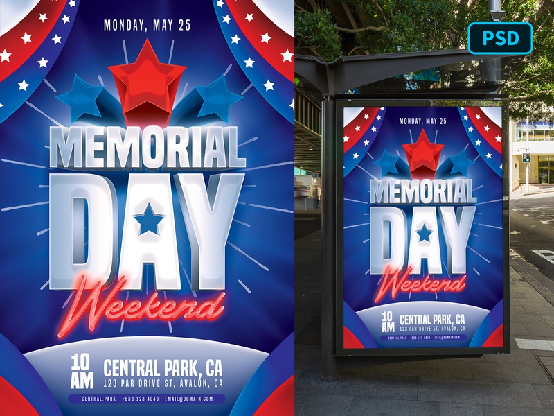 Memorial Day Flyer Template Photoshop 4th of july independence day national day patriot america united states united states of america memorial day flyer memorial day flyer template flyer graphicriver