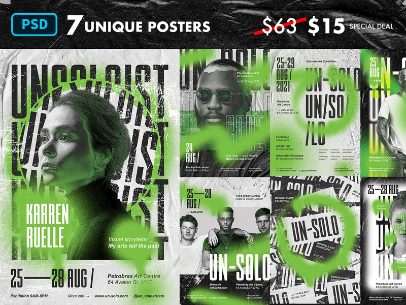 Artist Event - Poster Template Photoshop typography poster urban art exhibition event graphic designer graphic design artist art psd template poster poster template photoshop