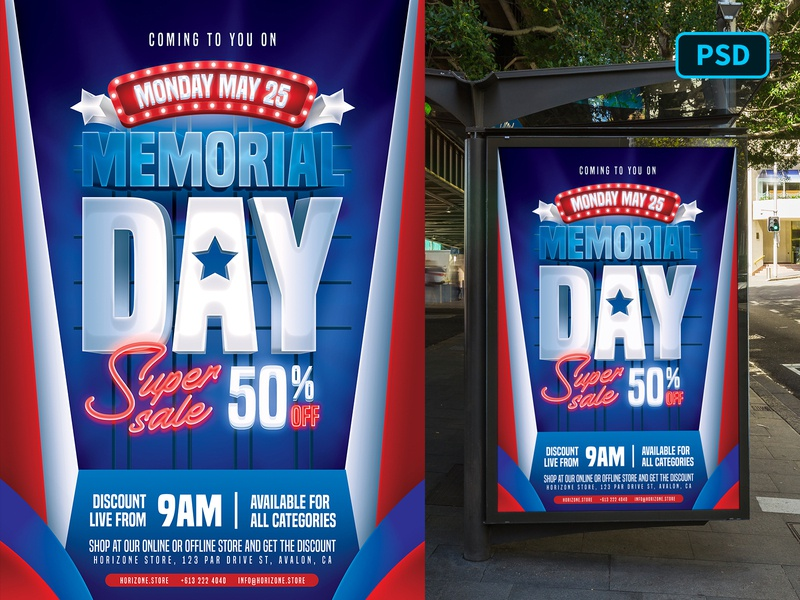Memorial Day Sale Flyer Template patriot national day independence day 4th of july america united states memorial day flyer template flyer photoshop graphicriver