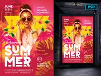 Summer Flyer PSD - Dreaming of Summer club love festival party tropical beach summer flyer psd flyer template template flyer creative market