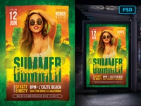 Tropical Summer Flyer Template summer party tropical summer tropical summer club template creative market party poster flyer poster template flyer template
