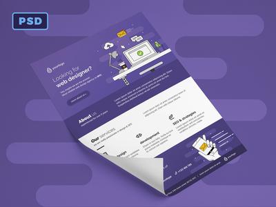 Web Designer Flyer Template