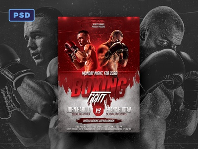 Boxing Flyer Template by Mohamad Borneafandri Abulga - Dribbble