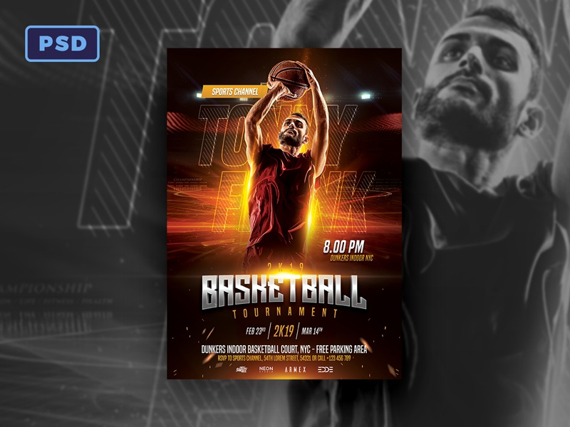 Basketball Flyer Template By Bornx Dribbble Dribbble