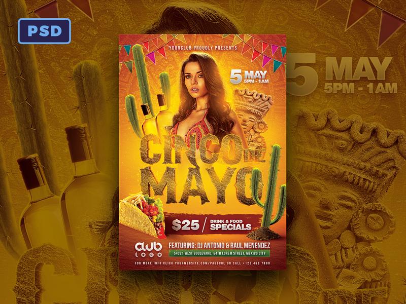 cinco de mayo flyer template by mohamad borneafandri abulga