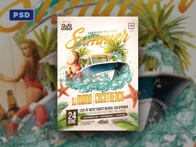 Summer Flyer Template Photoshop Psd Dribbble By Mohamad Borneafandri