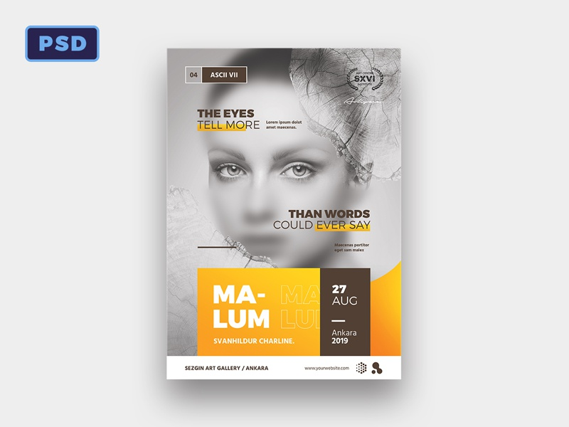 artist event flyer poster template by mohamad borneafandri abulga