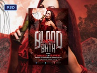 Blood Bath Halloween Flyer Template