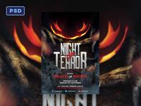 Night of Terror Halloween Flyer Template