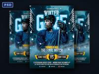 Winter Game Hockey Flyer