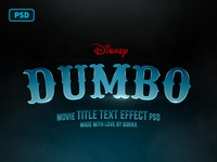 Dumbo Movie Title Text Effect PSD Free