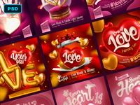 Valentine,s Day Instagram Templates Pack