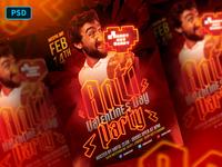 Anti Valentine's Day Flyer Template PSD
