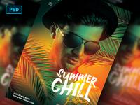 Summer Chill Dj Flyer Template