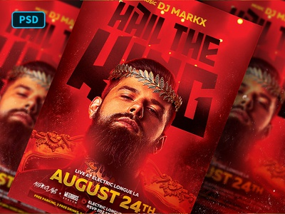 King Red Party Flyer Template