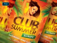 Club Summer Party Flyer Template