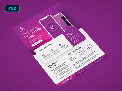 Mobile App Promotion Flyer Template
