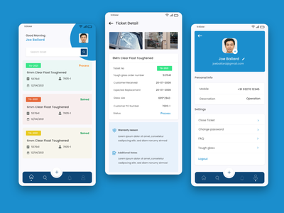 Customer care - Mobile app concept user interaction user interface app ui support customer communication customer support support app