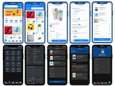 Shopping cart fashion mobile app e-commerce shopping cart flutter online store uiux app design