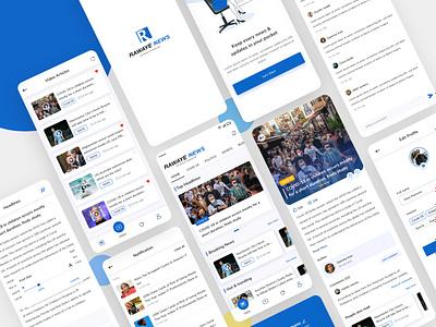 News App UI/UX user experience app ui ios app flutter app news uiux app design news app