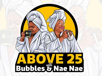 New podcast logo by me(krishan malviya) drawing graphic design illustration vector cartoon logo podcast