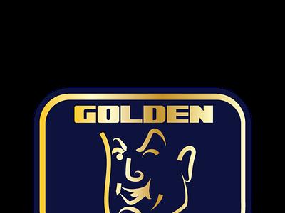 GOLDEN JAW gold foil logo logo mark