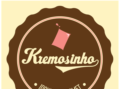 Kremosinho logo proposal icecream yogurt vintage logo vintage logotype logo