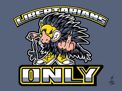 Libertarians Only Mascot logo design ancap team logo mascot libertarian