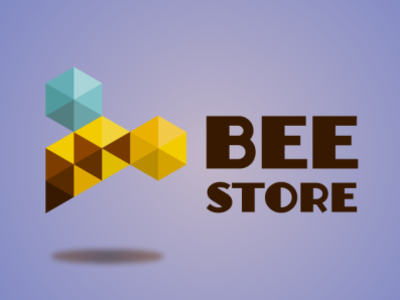 The Bee Store logo Proposal ecommerce bee logodesign logotype logo