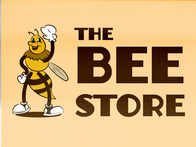 The Bee Store Logo and Mascot Proposal art bee illustrator logotype logo