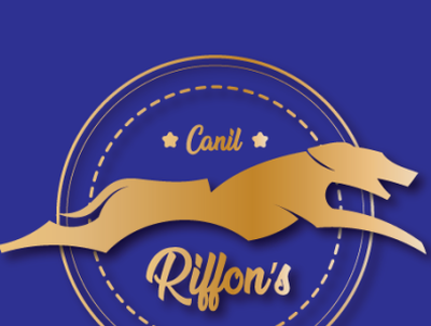 Riffon's Kennel Logo Proposal gold foil goldenratio dog logo logo dog kennel
