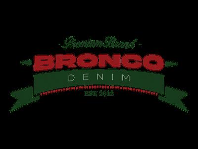 Bronco Denim Vintage Logo illustrator vintage logodesign logotype jeans denim