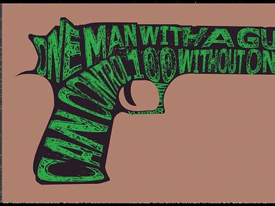 Guns and Freedom freedom desert pistol eagle weapon gun design illustrator art tshirtdesign tshirt art tshirt