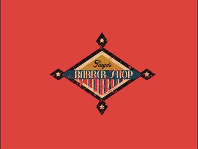 Tiago's Barber Shop Logo barbershop barber classic old oldschool vintage branding logotype
