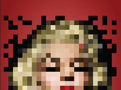 Marilyn Monroe Pixelart pinup fanart pixel illustration pixelart monroe marilyn marilyn monroe