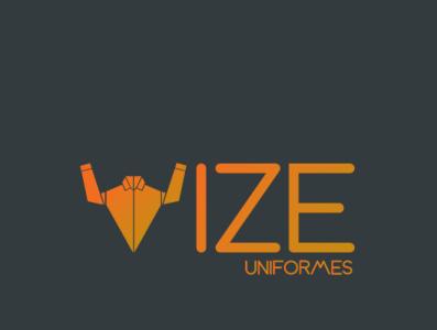 Vize Uniformes Black Logo Proposal illustrator logo logotype clothes uniform