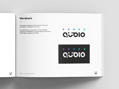 Qüblo / Brand book branding style guide brand identity layout design color palette logo system typography logo design brandbook brand guidelines brand guide guidebook guideline brand identity design mark manual
