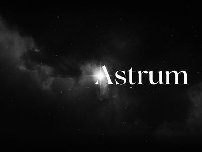 Astrum - branding for the cryptocurrency fund bitcoin fund crypto fintech identity branding logo