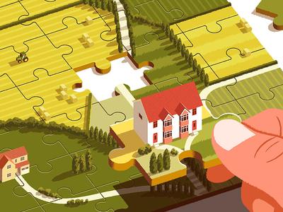 Modus Magazine house puzzle jigsaw