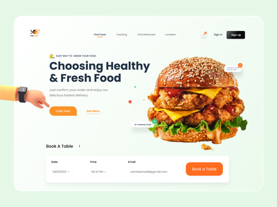 Restaurant Web UI Design Exploration resturant food app ecommerce best shot popular shot trendy tazrin clean ui pizza burger fast food menu table booking website designer landing page ux ui web ui restaurant