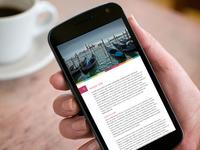 Mobile Article Design for Reader Application
