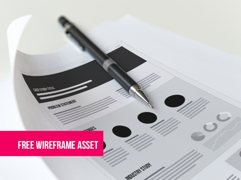 UX Case Study / Free Wireframe Asset EPS freebie asset web ui casestudy ux wireframe